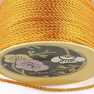 Snur nylon impletit grosime 2mm (1m) - portocaliu inchis