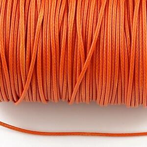Snur cerat grosime 1,5mm, portocaliu (1m)