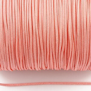 Snur nylon Taiwan grosime 1,5mm (1m) - roz pal