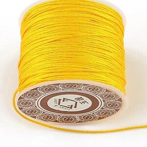 Snur Shamballa grosime 1mm, rola de 35m - portocaliu deschis