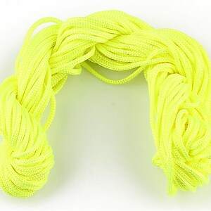 Ata nylon, grosime 2mm, 12m, verde neon