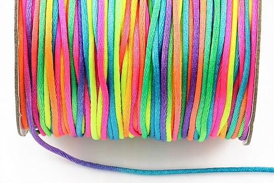Snur sintetic satinat grosime 1,5mm (1m) - multicolor