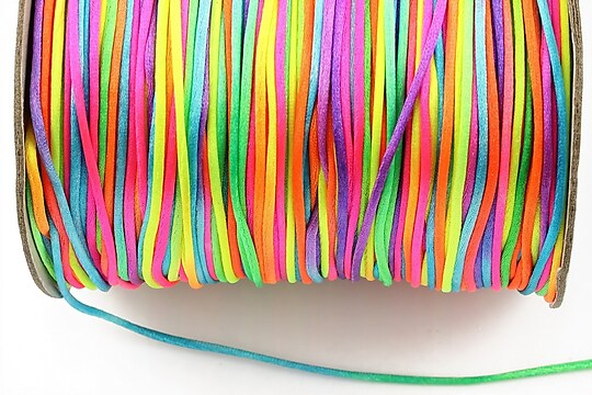 Snur sintetic satinat grosime 1mm (1m) - multicolor