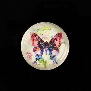 "Cabochon sticla 25mm ""Beauty of Butterfly"" cod 504"