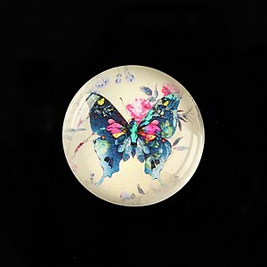 "Cabochon sticla 25mm ""Beauty of Butterfly"" cod 505"