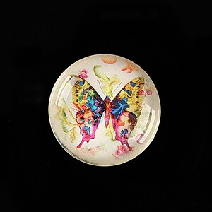 "Cabochon sticla 25mm ""Beauty of Butterfly"" cod 506"
