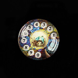 "Cabochon sticla 25mm ""Phone Friendship"" cod 510"