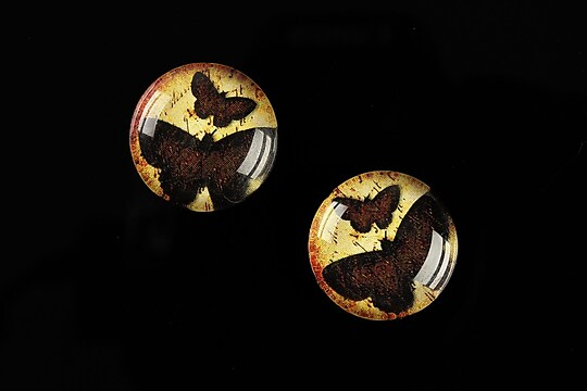 "Cabochon sticla 18mm ""Fly Butterfly"" cod 528"