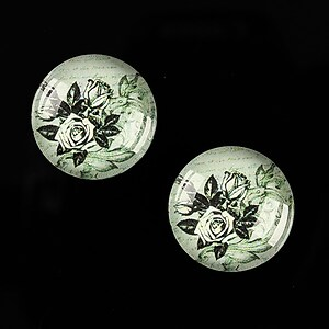 "Cabochon sticla 18mm ""Background"" cod 531"