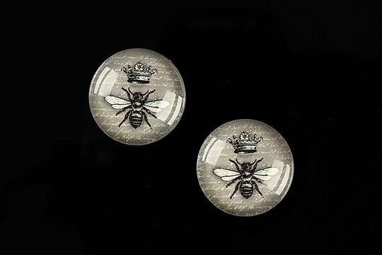 "Cabochon sticla 18mm ""Background"" cod 532"