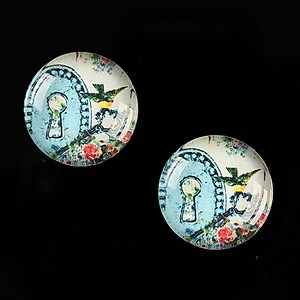 "Cabochon sticla 18mm ""The Secret"" cod 535"