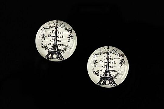Cabochon sticla 18mm C'est Paris cod 541