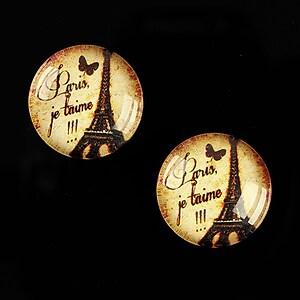 Cabochon sticla 18mm C'est Paris cod 543