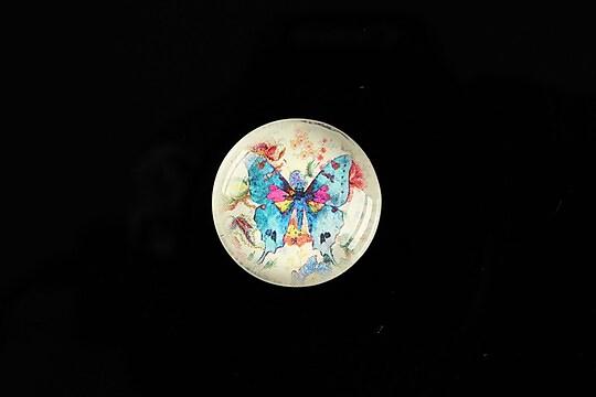 "Cabochon sticla 20mm ""Amazing Butterflies"" cod 544"
