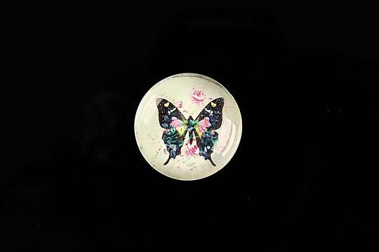 "Cabochon sticla 20mm ""Amazing Butterflies"" cod 545"