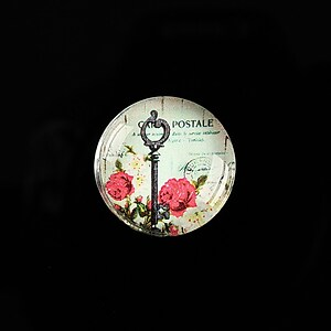 "Cabochon sticla 20mm ""Forever Love"" cod 546"
