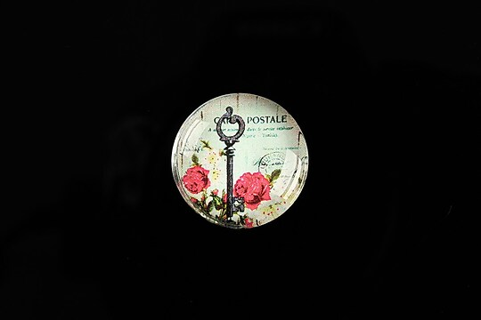 "Cabochon sticla 20mm ""Forever Love"" cod 546"