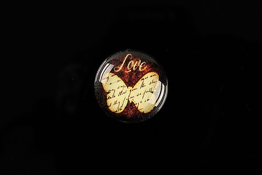 "Cabochon sticla 20mm ""Love"" cod 554"