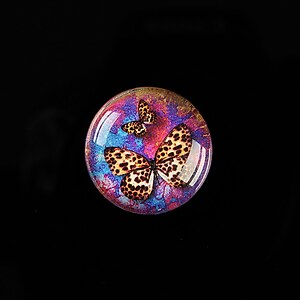 "Cabochon sticla 20mm ""Amazing Butterflies"" cod 557"