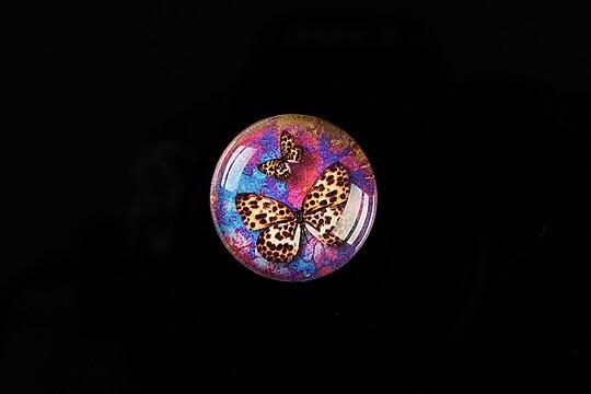 "Cabochon sticla 20mm ""Amazing Butterflies"" cod 557"