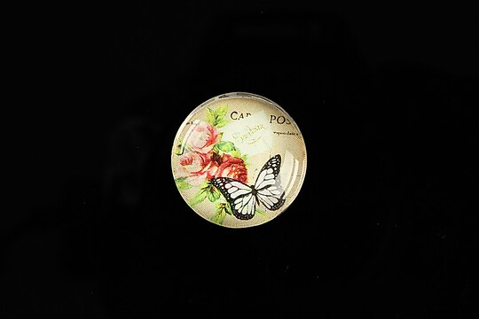 "Cabochon sticla 20mm ""Amazing Butterflies"" cod 559"