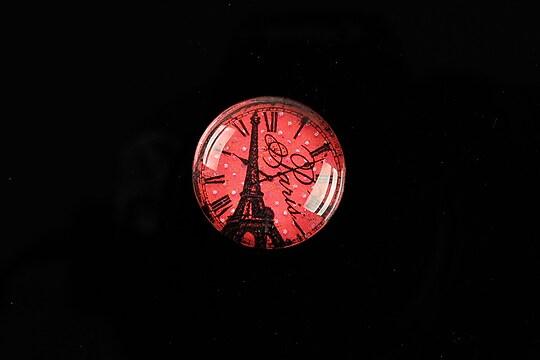 "Cabochon sticla 20mm ""Hour in Paris"" cod 571"