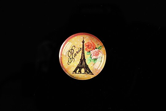 "Cabochon sticla 20mm ""With Paris With Love"" cod 573"