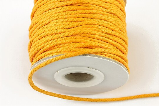 Snur impletit bumbac grosime 2mm (1m) - portocaliu deschis
