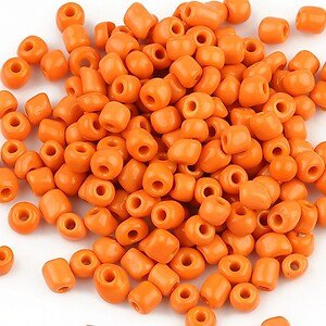 Margele de nisip opace 4mm (50g) - cod 340 - portocaliu