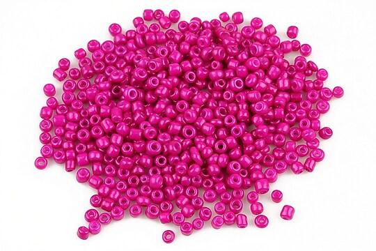 Margele de nisip opace 2mm (50g) - cod 343 - roz bonbon