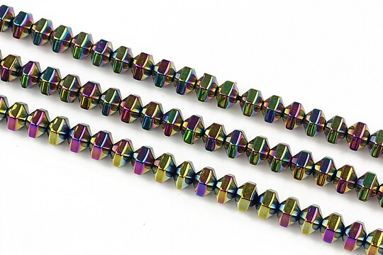 Hematit electroplacat rondele 4x5mm - multicolor