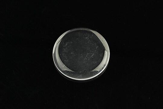 Cabochon de sticla transparenta plat pentru fundal personalizat 25mm