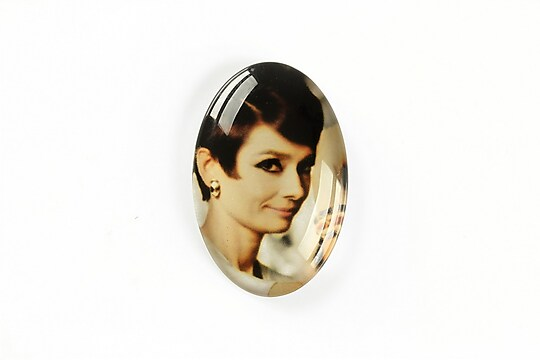 "Cabochon sticla 30x20mm ""Retro"" cod A1110"