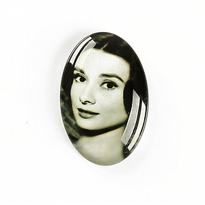 "Cabochon sticla 30x20mm ""Retro"" cod A1112"