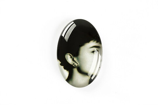 "Cabochon sticla 30x20mm ""Retro"" cod A1117"
