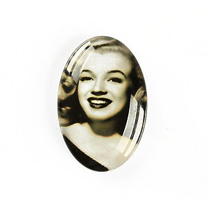 "Cabochon sticla 30x20mm ""Retro"" cod A1126"