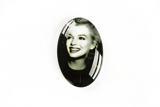 "Cabochon sticla 30x20mm ""Retro"" cod A1127"