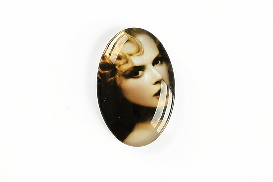"Cabochon sticla 30x20mm ""Retro"" cod A1131"
