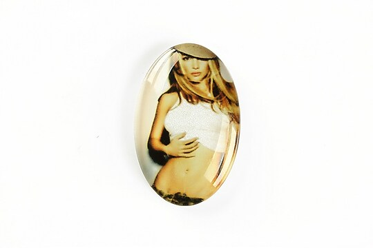 "Cabochon sticla 30x20mm ""Retro"" cod A1132"
