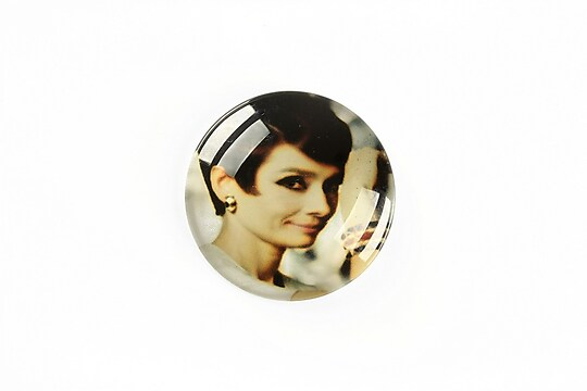 "Cabochon sticla 25mm ""Retro"" cod A1219"