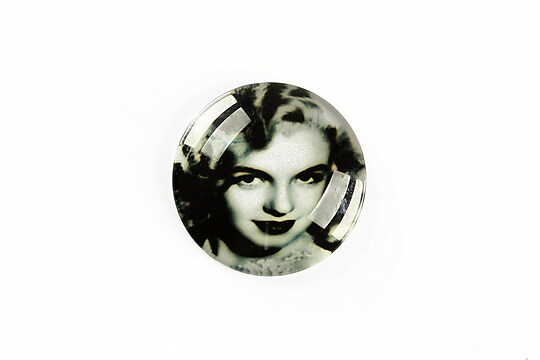 "Cabochon sticla 25mm ""Retro"" cod A1220"