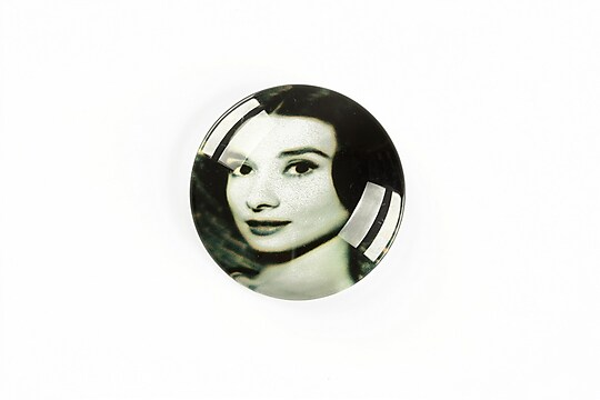 "Cabochon sticla 25mm ""Retro"" cod A1221"