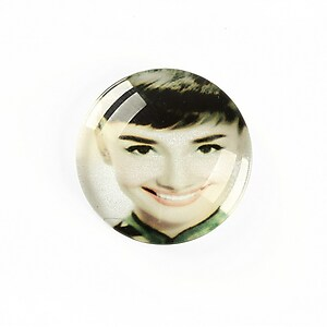 "Cabochon sticla 25mm ""Retro"" cod A1223"