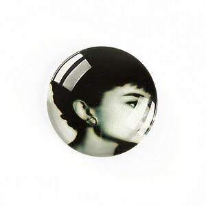 "Cabochon sticla 25mm ""Retro"" cod A1226"