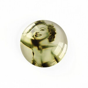 "Cabochon sticla 25mm ""Retro"" cod A1230"