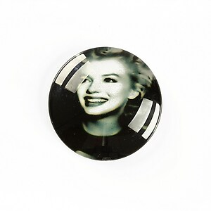 "Cabochon sticla 25mm ""Retro"" cod A1236"