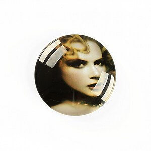 "Cabochon sticla 25mm ""Retro"" cod A1240"