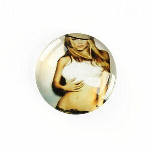 "Cabochon sticla 25mm ""Retro"" cod A1241"