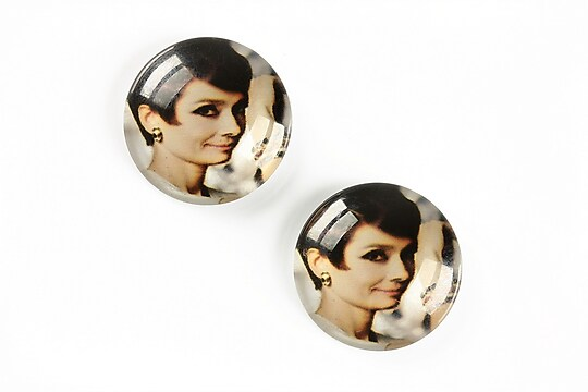 "Cabochon sticla 20mm ""Retro"" cod A1350"