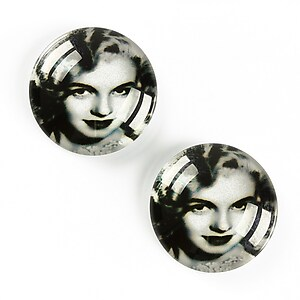 "Cabochon sticla 20mm ""Retro"" cod A1351"